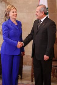 Michel Sleiman gets a load of Hillary.