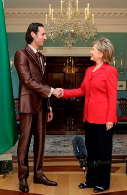 Hillary gets a load of Mutassim Qaddafi
