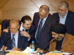saad with berri and nasrallah
