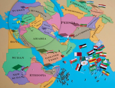 "Jeffrey Goldberg's map of ""the New Middle East"" from a few years back (including an anticipated Alawite state)."